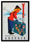 Winter in Austria, Vintage Travel Poster